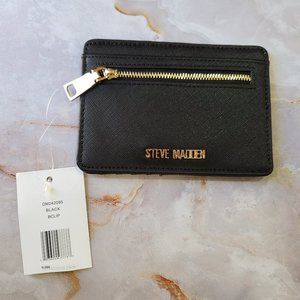 NWT STEVE MADDEN BLACK CARD WALLET